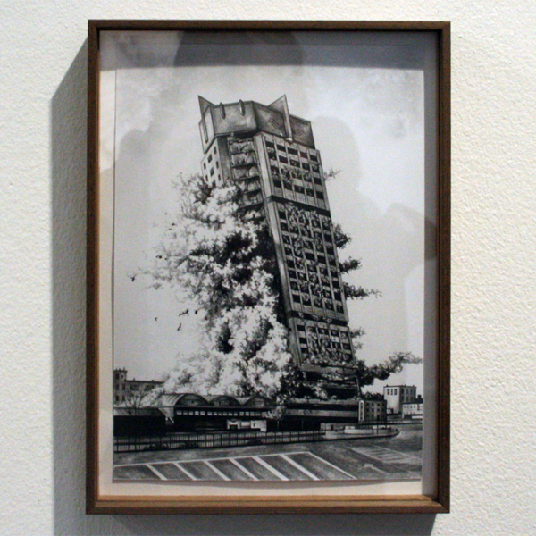 Rik Smits - The Baseyard Shopping Center - 21x29cm Potlood op papier
