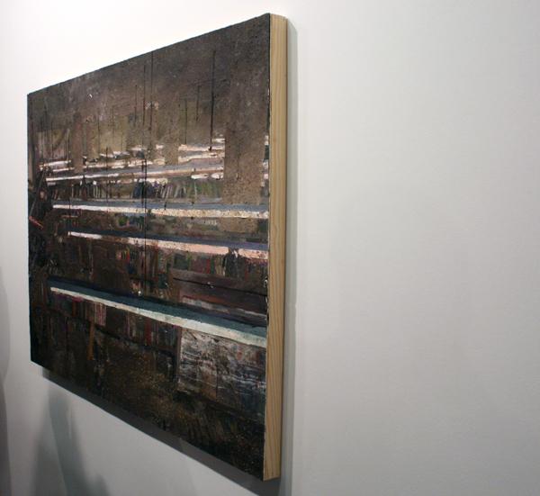 Tjebbe Beekman - Library - 118x91cm Acrylverf, enamel en zand op canvas op paneel