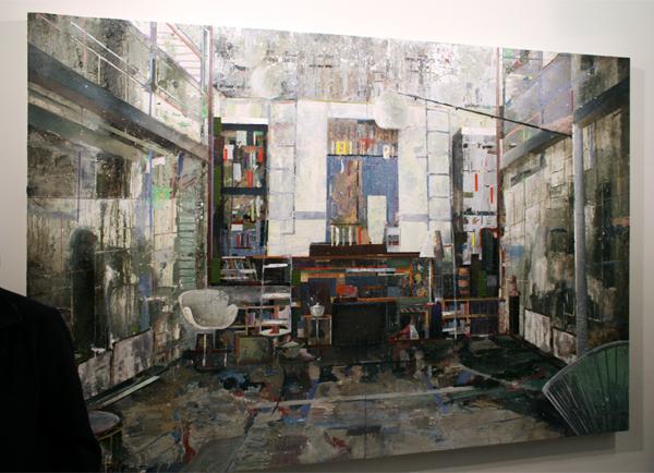 Tjebbe Beekman - The Modernist - 305x200cm Acrylverf, enamel en zand op canvas op paneel