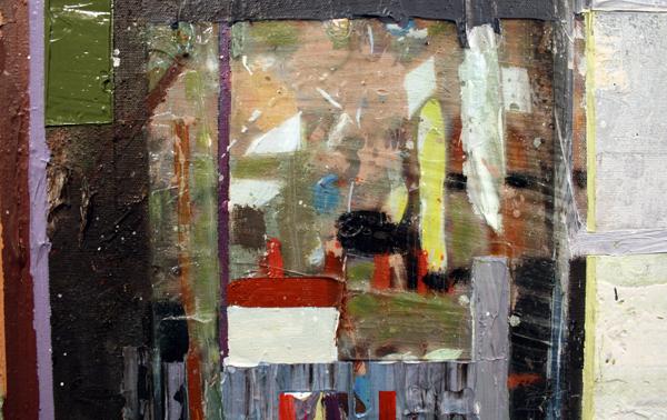 Tjebbe Beekman - The Modernist - 305x200cm Acrylverf, enemel en zand op canvas op paneel (detail)