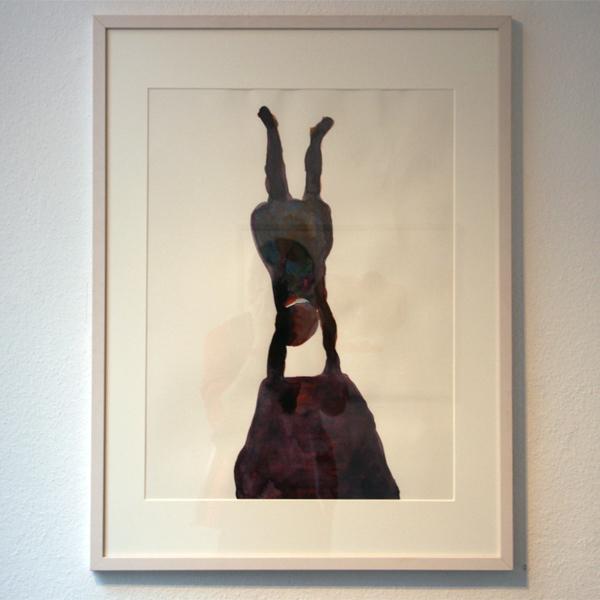 Carina Diepens - Het precisie-wiebeltje - 65x50cm Aquarelverf op papier