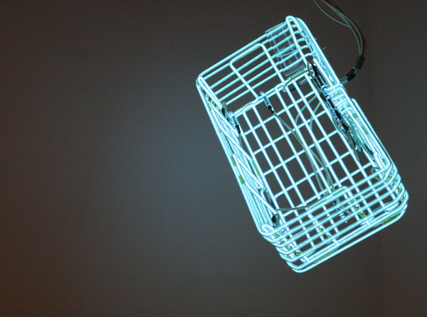 Huub van der Loo - Zonder Titel - 45x60x60cm Neonbuizen