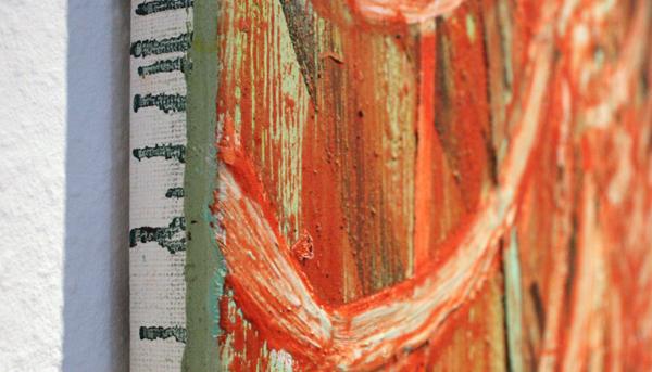 Huub van der Loo - Zonder Titel - 70x50cm Olieverf op linnen (detail)