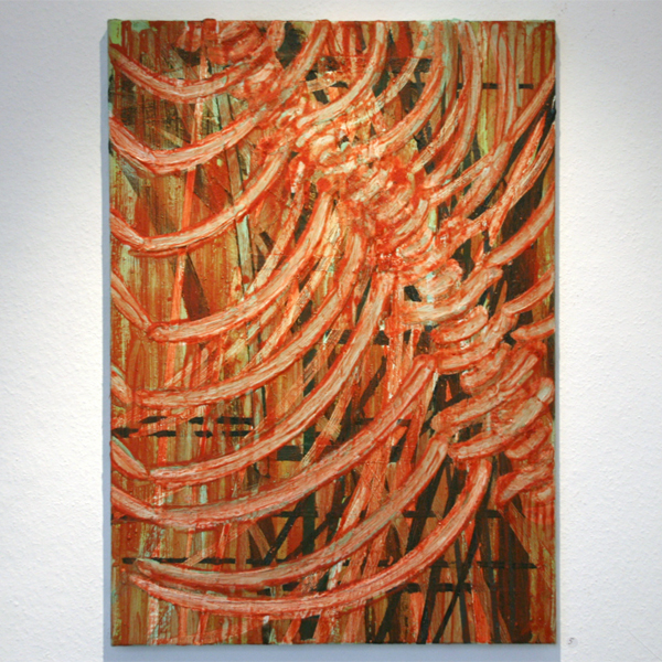 Huub van der Loo - Zonder Titel - 70x50cm Olieverf op linnen