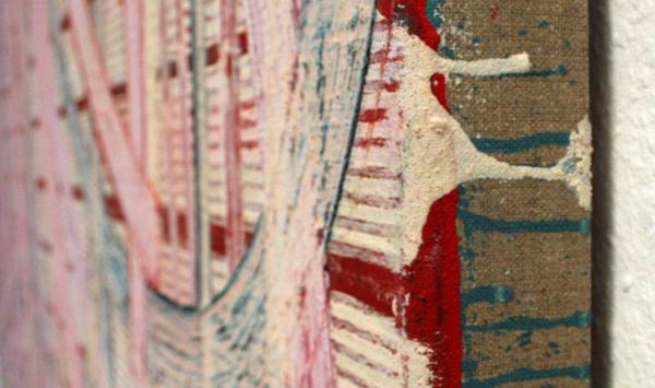 Huub van der Loo - Zonder Titel (Vanitas, De Hang) - 153x300cm Olieverf op linnen (detail)