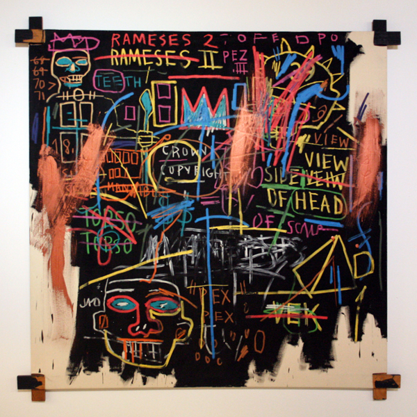 Jean-Michel Basquiat - Kings of Egypt II - Olieverf op doek