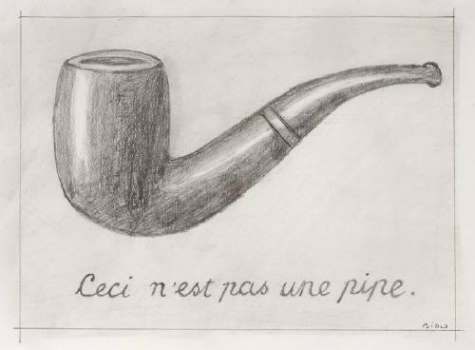 Mike Bidlo - Not Magritte (Ceci Ce Nest Pas Une Pipe) - Potlood op papier