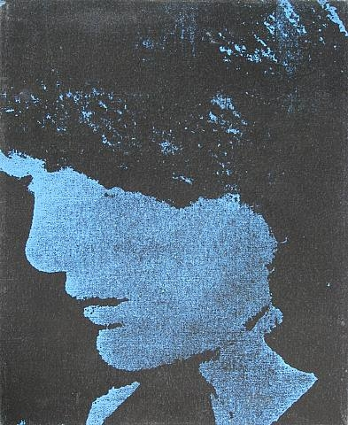 Mike Bidlo - Not Warhol (Jackie) - 51x41cm Acrylverf en zeefdruk op canvas