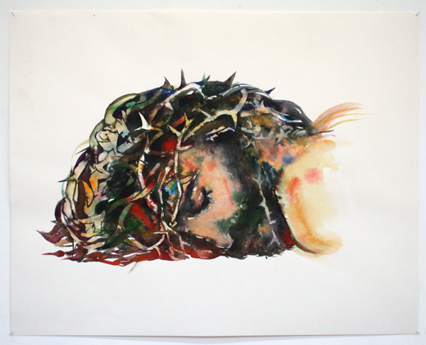 Paul van Dongen - Jezus - 55x72cm Aquarel