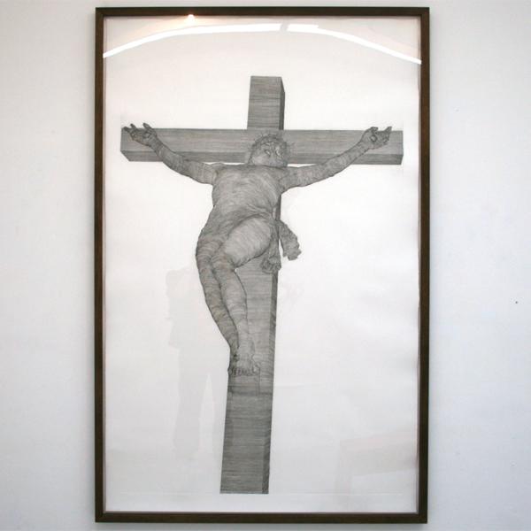 Paul van Dongen - Kruiziging - 205x125cm Ets