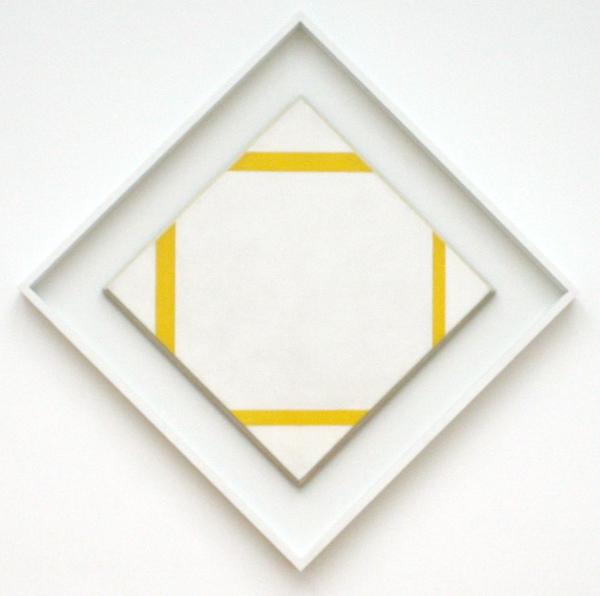 Piet Mondriaan - Compositie met gele lijnen - Olieverf op doek