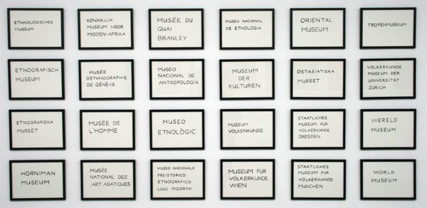 Sara van der Heide - 24 European Ethnographic Museums - 24 maal inkt op papier