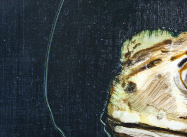 Seth Pick - Amphibian - 40x30cm Olieverf op polyester (detail)
