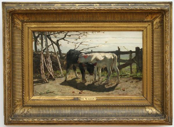 Willem Maris - De Kalfjes - Olieverf op doek