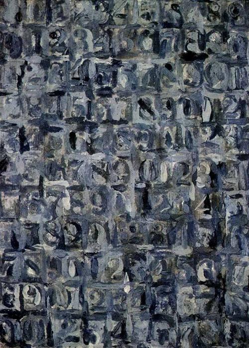 Jasper Johns - Gray Numbers