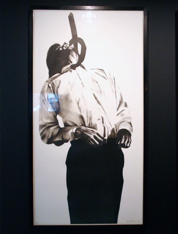 Robert Longo - Men in the cities Gretchen - Litho op papier