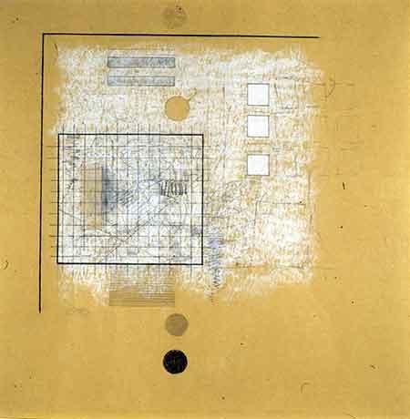 Robert Ryman - Yellow Drawing Number 5