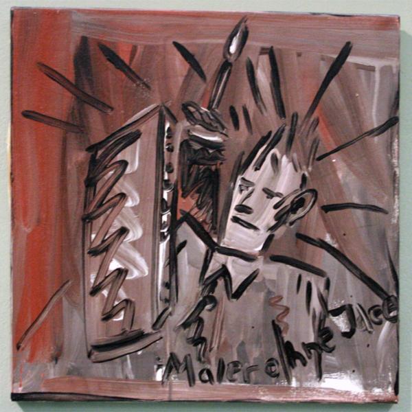 Walter Dahn - Maler ohne idee - Olieverf op doek