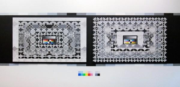 Navine G Khan-Dossos - The Messenger & The Message (Verso & Recto) - 152x91cm, Gouache op paneel