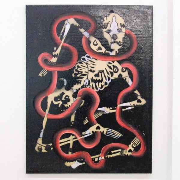 Tom Poelmans - Painting Beats Death - 60x80cm Spraypaint en olieverf op doek