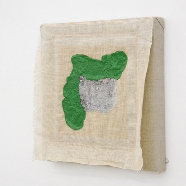 Jan van den Dobbelsteen - Flipside - 40x42x4cm, Acrylverf en draad op linnen, 2012