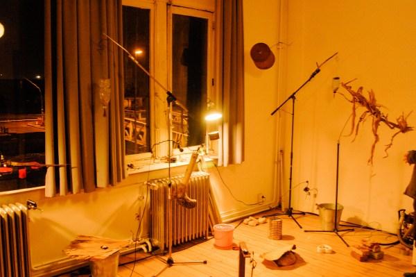 Pierre Berthet - Installatie en concert