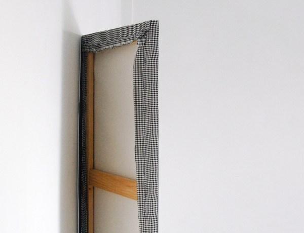 Nicolas Chardon - Le 3eme carre - 100x201cm Acrylverf op textiel (detail)