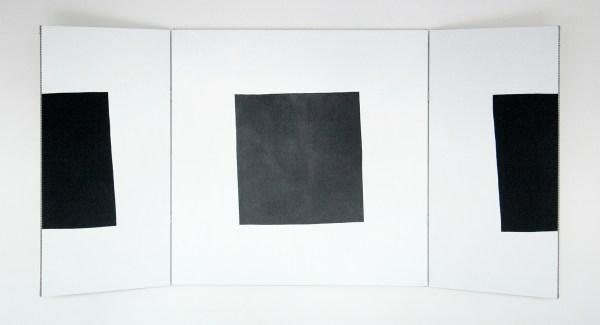 Nicolas Chardon - Le 3eme carre - 100x201cm Acrylverf op textiel