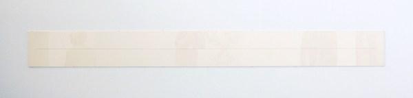 Stanley Brouwn - 1m 1;1/3 - 31x314cm Inkt en potlood op papier, 1976