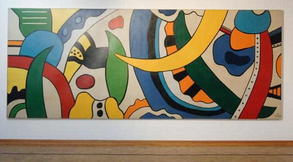 Fernand Leger - Composition - Olieverf op canvas (gemaakt voor de dineerkamer van Lucania passasiers), 1953