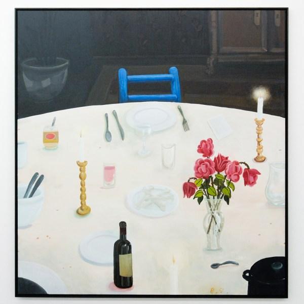 Ben Sledsens - Empty Plate - 170x140cm Spuitbus, olieverf en acrylverf op canvas