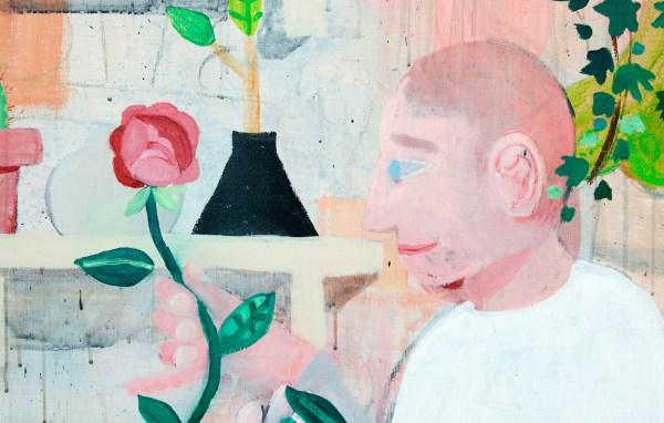 Ben Sledsens - The Flowerstone - 200x170cm Spuitbus, krijt, olieverf en acrylverf op canvas (detail)
