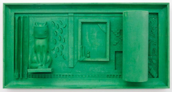 Nadia Naveau - Green Silver Screen - 135x70x24cm, Epoxy