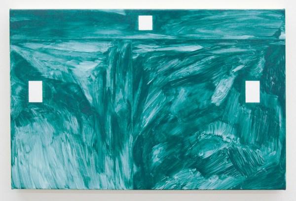 Robert Holyhead - Untitled (Eye) - 33x51cm Olieverf op canvas