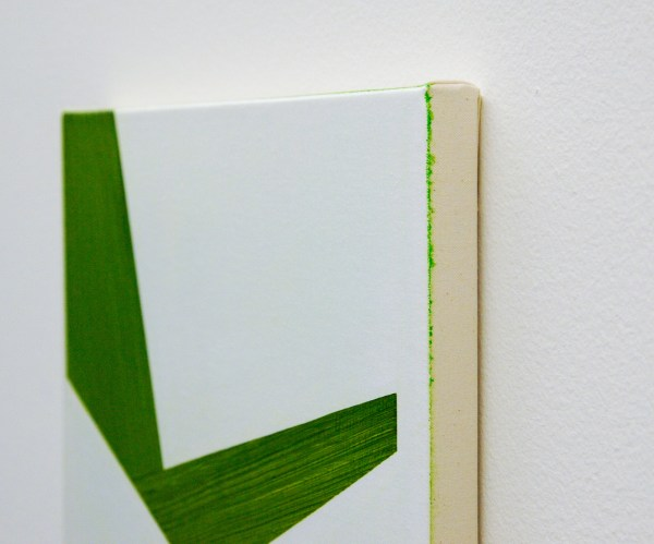 Robert Holyhead - Untitled (Shaped) - 46x31cm Olieverf op canvas (detail)