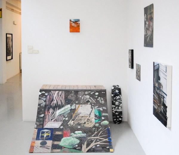 Tobias Langkeek - Debris 4 - 120x70x150cm Acrylverf op ramp