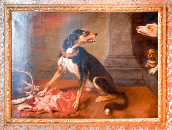 David de Coninck - Aanvallende honden - Olieverf op doek