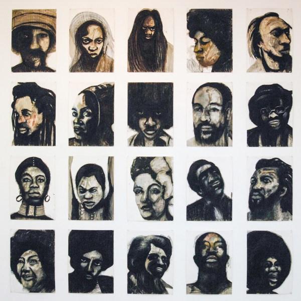 Iris Kensmil - We the people who are darker than blue - 70x50cm Inkt en pastel op papier