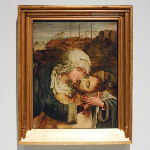 Quinten Massijs I - Maria omhelst dode Jezus - Olieverf op paneel (?)