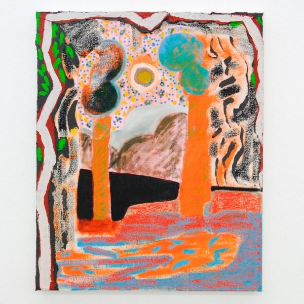 Shara Hughes - Canopy - 51x41cm Olieverf, acrylverf en 'flashe' op canvas