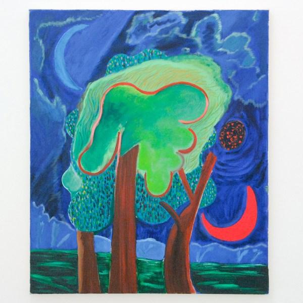 Shara Hughes - Overnight Night - 91x76cm Olieverf op canvas