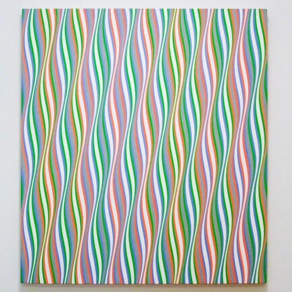 Bridget Riley - Entice 2 - Acrylverf op linnen, 1974