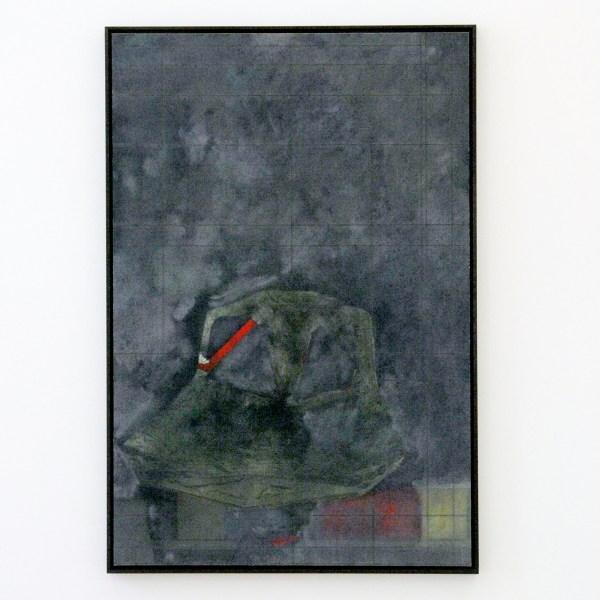 David Maljkovic - Aaassemblage 1 - 77x53x3cm Inkjet print op katoen, beschilderd met olieverf, gemonteerd op aluminium paneel met laser tekening