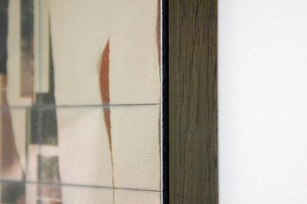 David Maljkovic - Aaassemblage 7 - 77x53x3cm Inkjet print op katoen, beschilderd met olieverf, gemonteerd op aluminium paneel met laser tekening (detail)