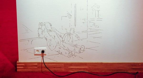Friedrich Kunath - Onbekende Titel - Muurtekening