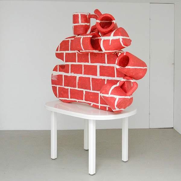 Mike Pratt - Wall - 157x126cm Olieverf en encaustiek op piepschuim