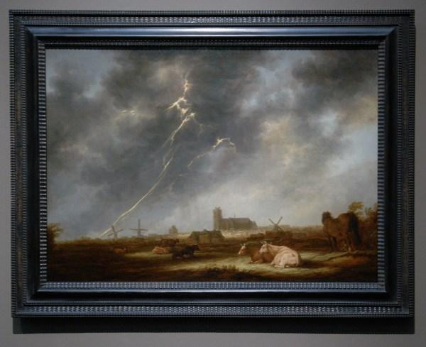 Aelbert Cuyp - Fishing Boast in the Moonlight - 77x107cm Olieverf op eikenhout, 1645
