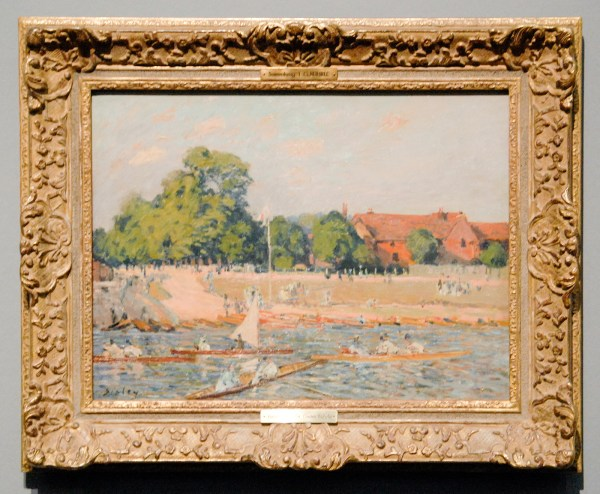 Alfred Sisley - Regatta at Hampton Court - 46x61cm Olieverf op canvas, 1874