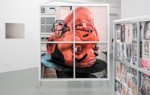 Berend Strik - Decipher the Artist's Mind (Studio JM) - 212x195cm C-print met borduursel (achterzijde)