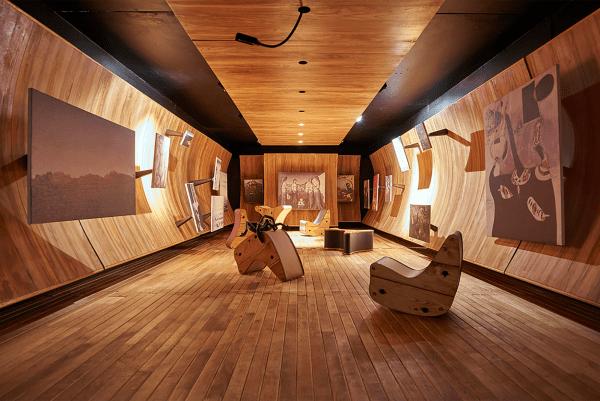 1942 - Frederick Kiesler - Ontwerp voor Peggy Guggenheim Gallery 'Art of This Century'